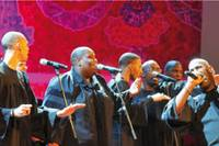 un momento del concierto del Alabama Gospel Choir