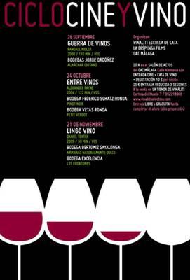 cartel anunciador del ciclo Cine y Vino del CAC Málaga