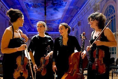 componentes de New Moon String Quartet