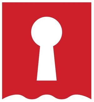 logotipo de a telón cerrado