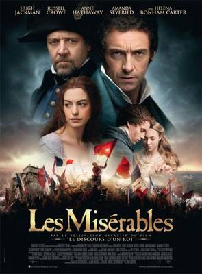 Los Miserables de Oscar Tom Hooper. Cartel de la película.