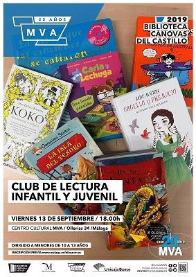 cartel Club de lectura infantil y juvenil