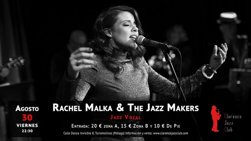 Clarence Jazz Club, Torremolinos, Rachel Malka & The Jazz Makers,